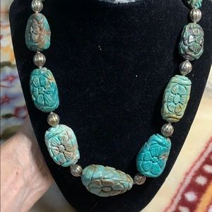 Mineral find turquoise necklace